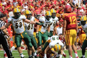 The Bison defense stood strong, shutting out the Cyclones in the second half.