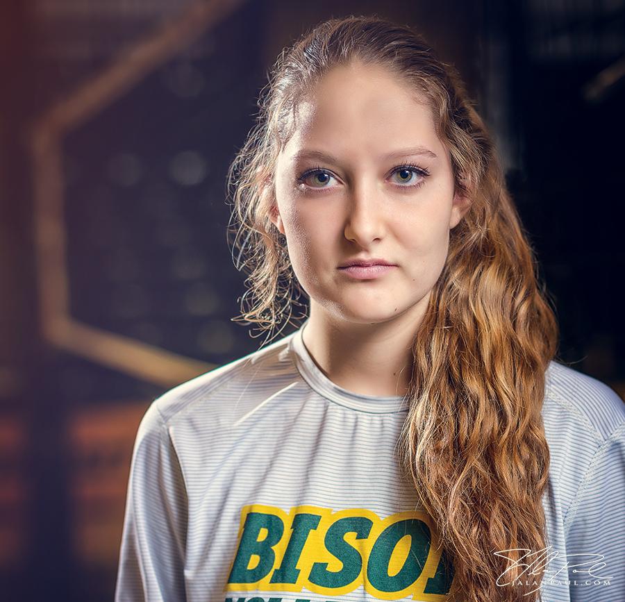NDSU Bison women's volleyball player McKenzie Burke