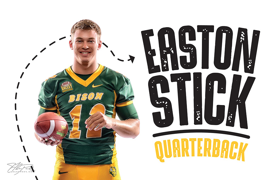 Easton Stick is the starting quarterback for the NDSU Bison football team
