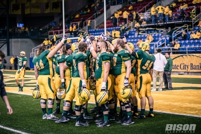 North Dakota State Bison football offensive line