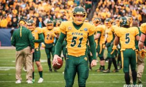 Bison long snapper James Fisher