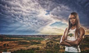 Alexis Woods NDSU track and field