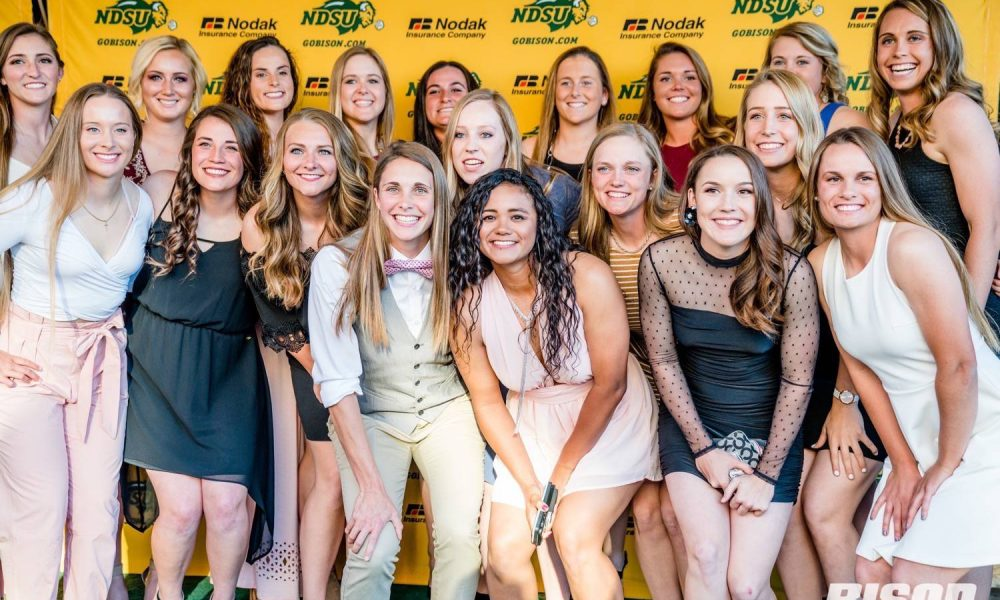 People outside the Fargo Theatre for the Green and Gold Gala
